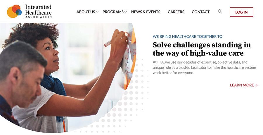 Screenshot from new IHA website
